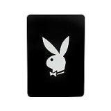 Playboy Fleecedecke Classic schwarz