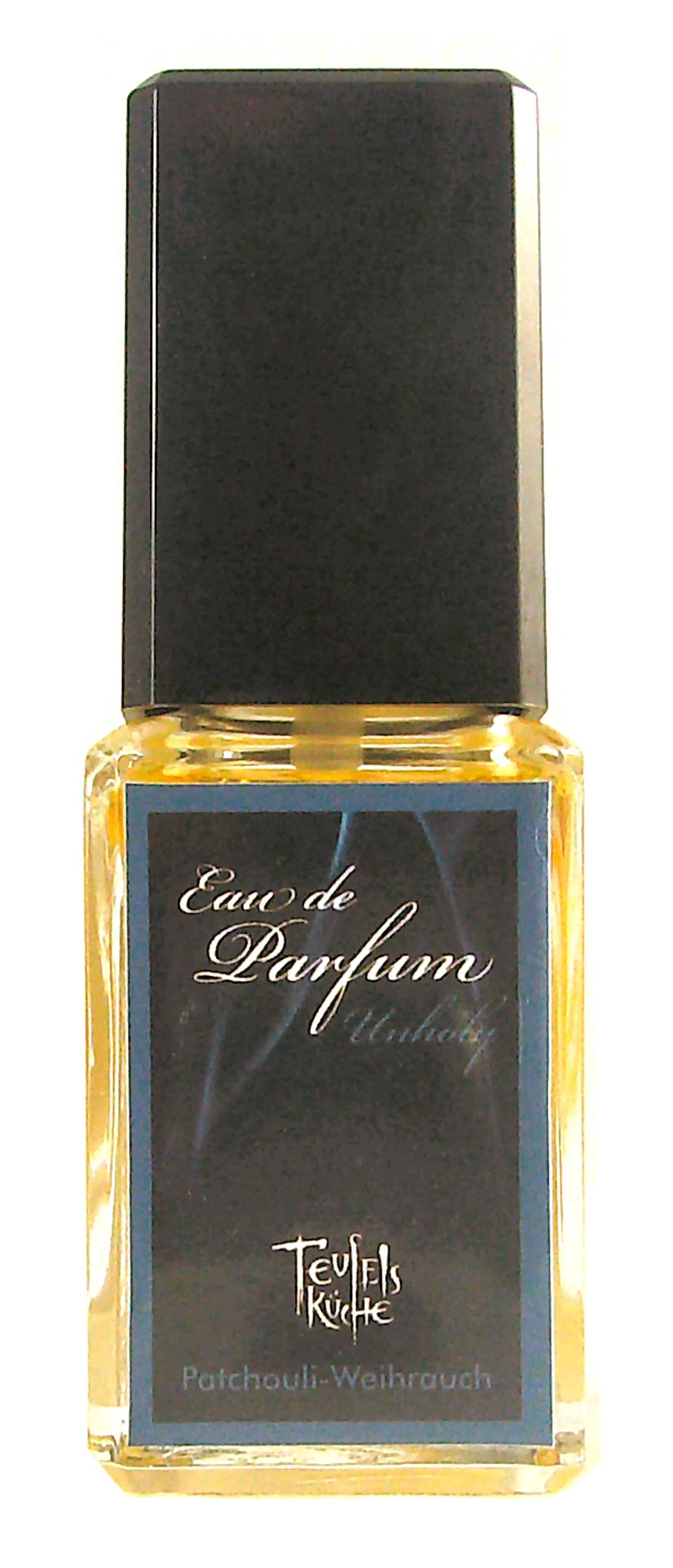 Eau De Parfum Patchouli Unholy 25ml und Parfumflakon leer