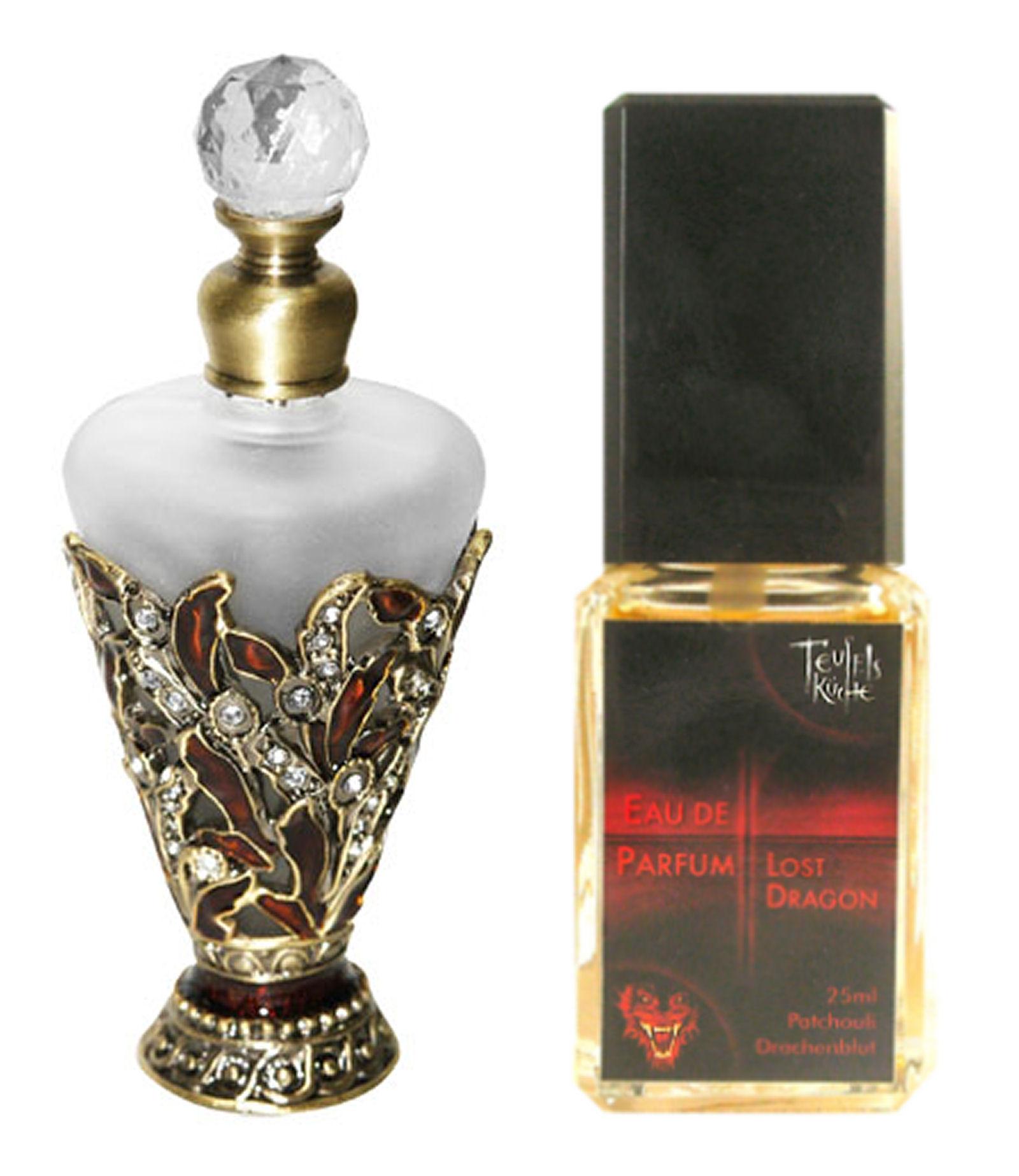 Eau De Parfum Patchouli Lost Dragon 25ml und Parfumflakon leer