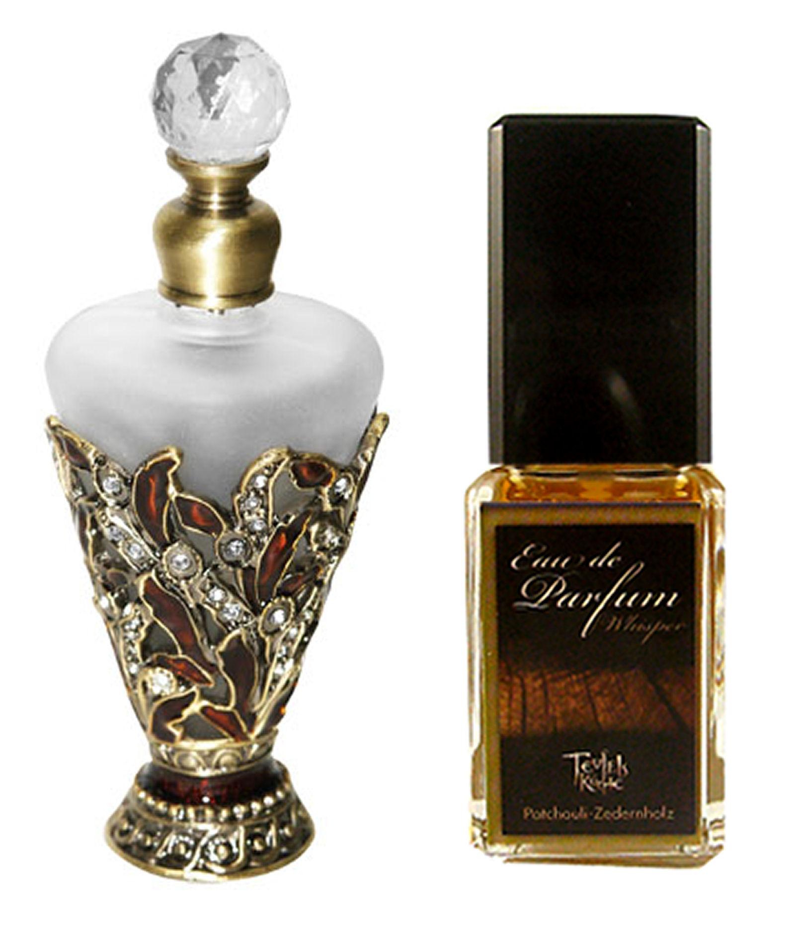 Eau De Parfum Patchouli Whisper 25ml und Parfumflakon leer
