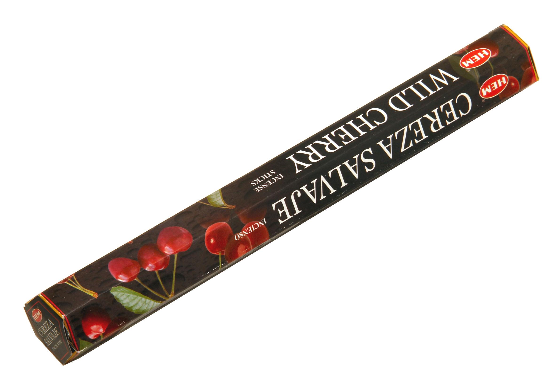 HEM Räucherstäbchen Wild Cherry 20g Hexa Packung  Ca. 20 Incence Sticks