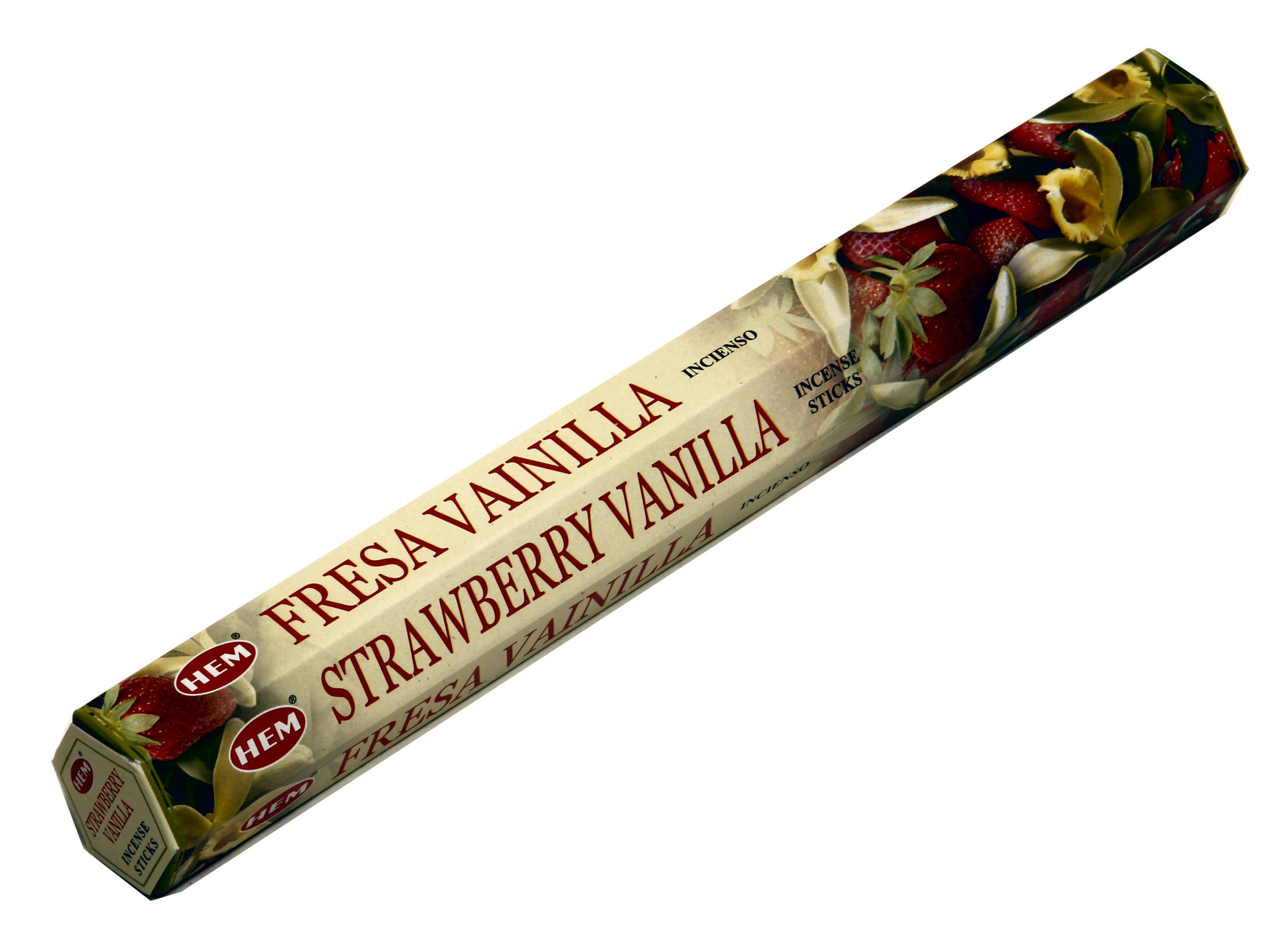 HEM Räucherstäbchen Strawberry Vanilla 20g Hexa Packung  Ca. 20 Incence Sticks