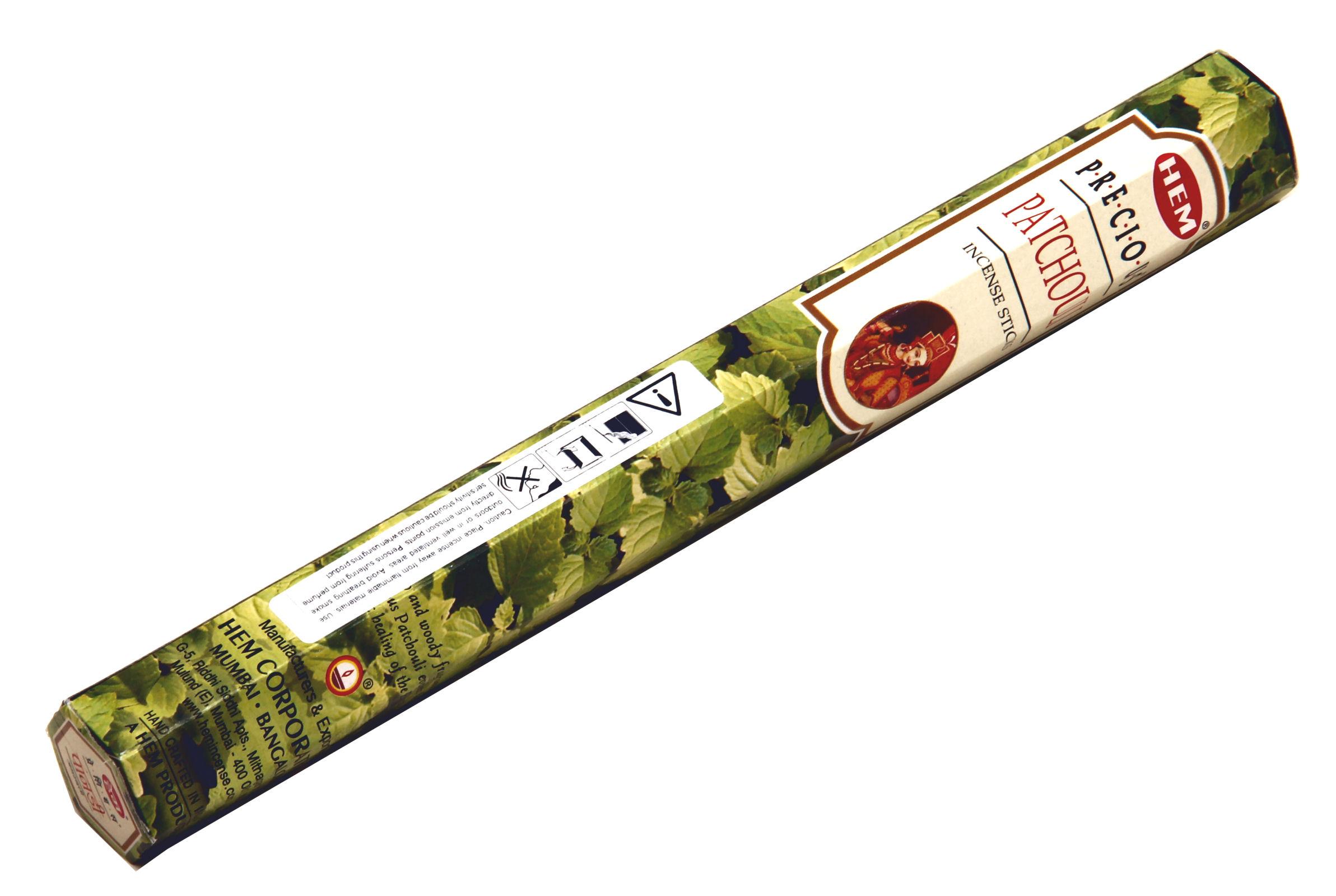 HEM Räucherstäbchen Precious Patchouli 20g Hexa Packung  Ca. 20 Incence Sticks