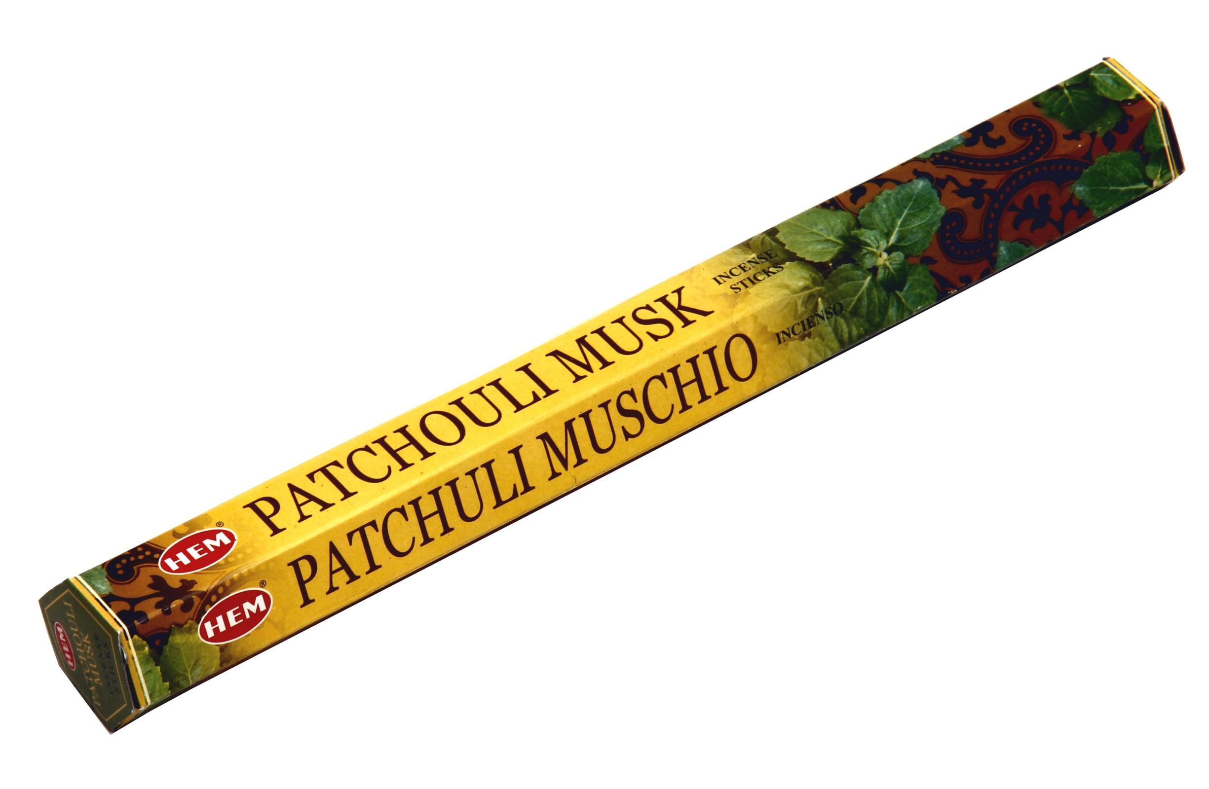 HEM Räucherstäbchen Patchouli Musk 20g Hexa Packung  Ca. 20 Incence Sticks