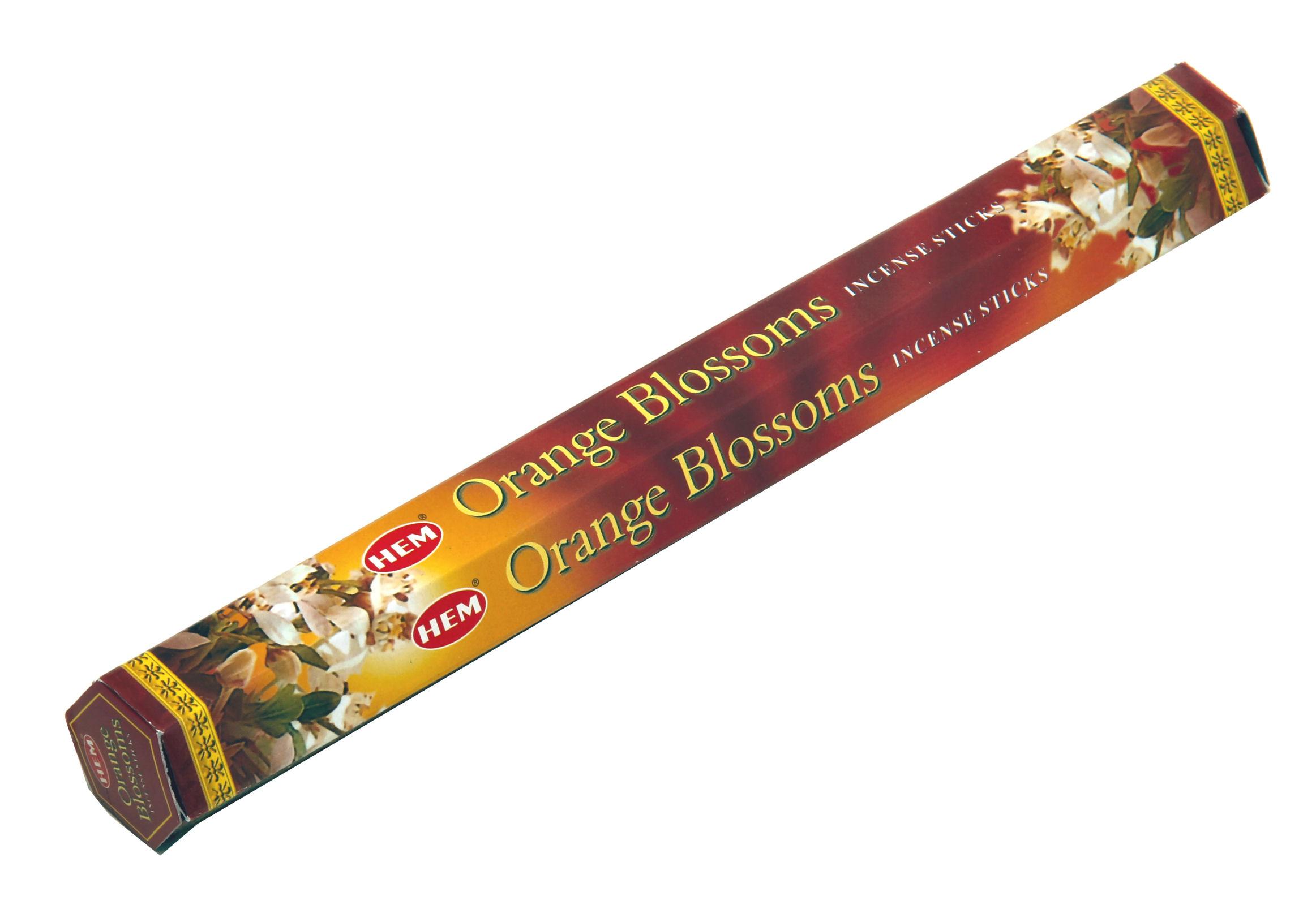 HEM Räucherstäbchen Orange Blossom 20g Hexa Packung  Ca. 20 Incence Sticks