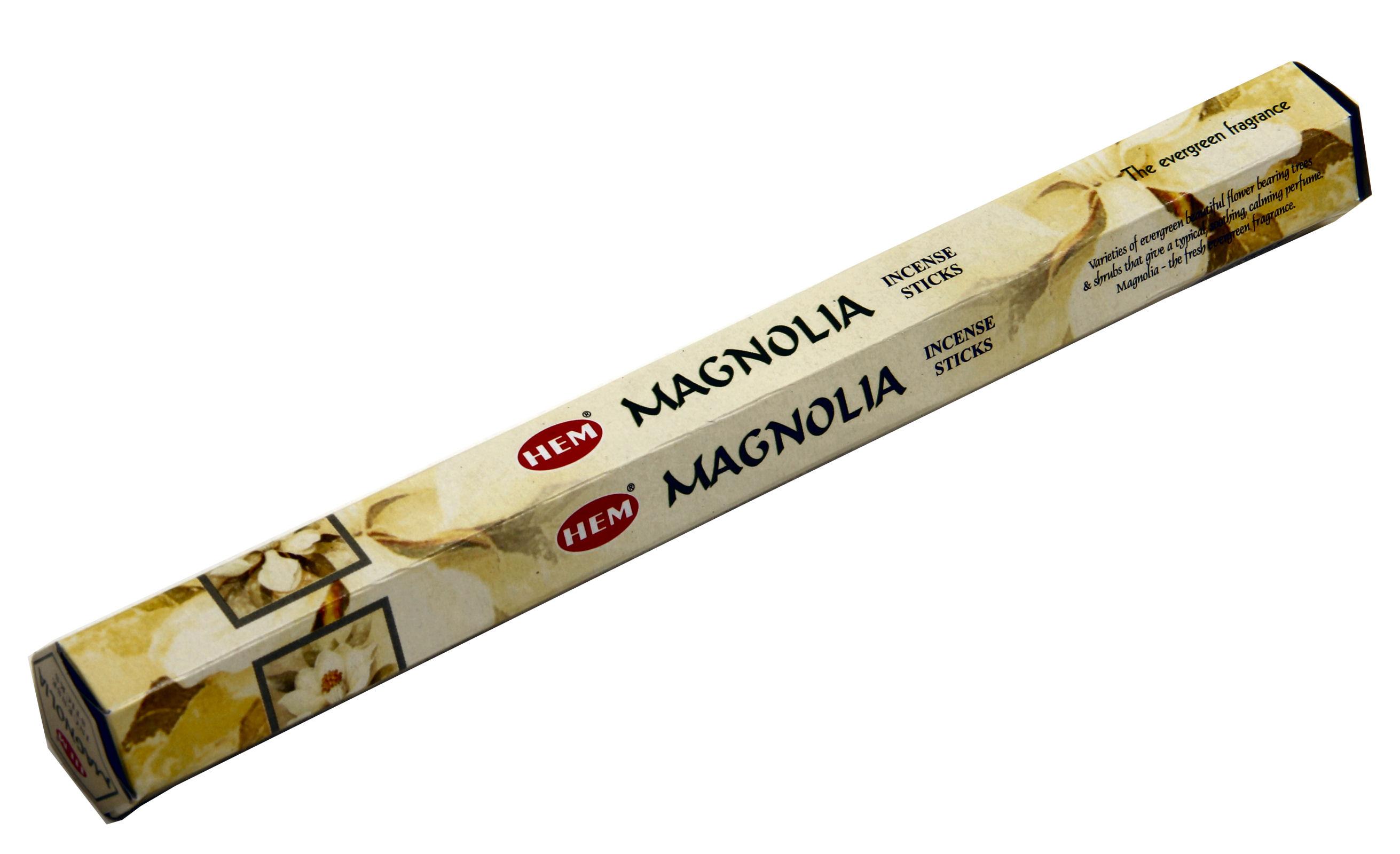 HEM Räucherstäbchen Magnolia 20g Hexa Packung  Ca. 20 Incence Sticks