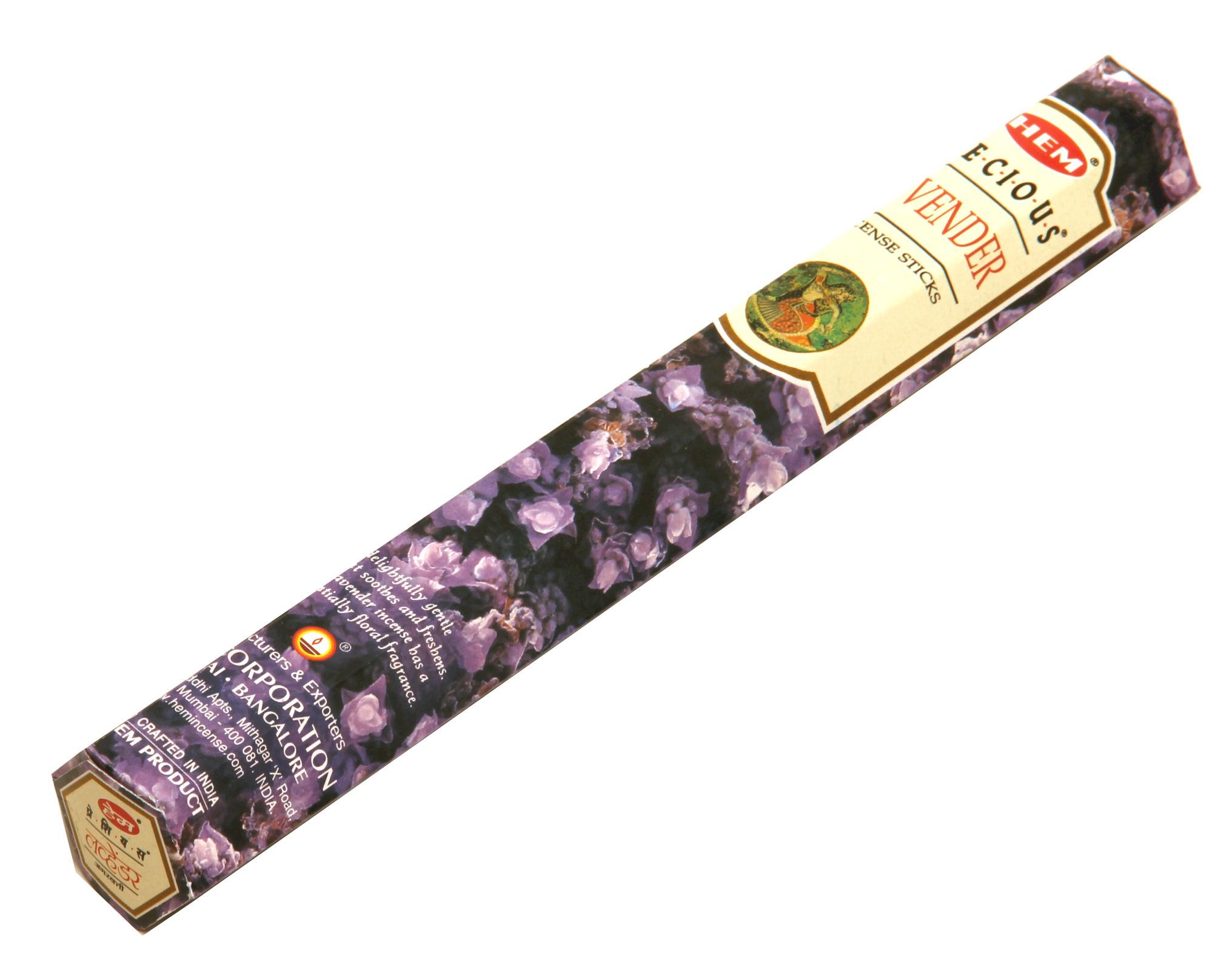 HEM Räucherstäbchen Lavendel 20g Hexa Packung  Ca. 20 Incence Sticks