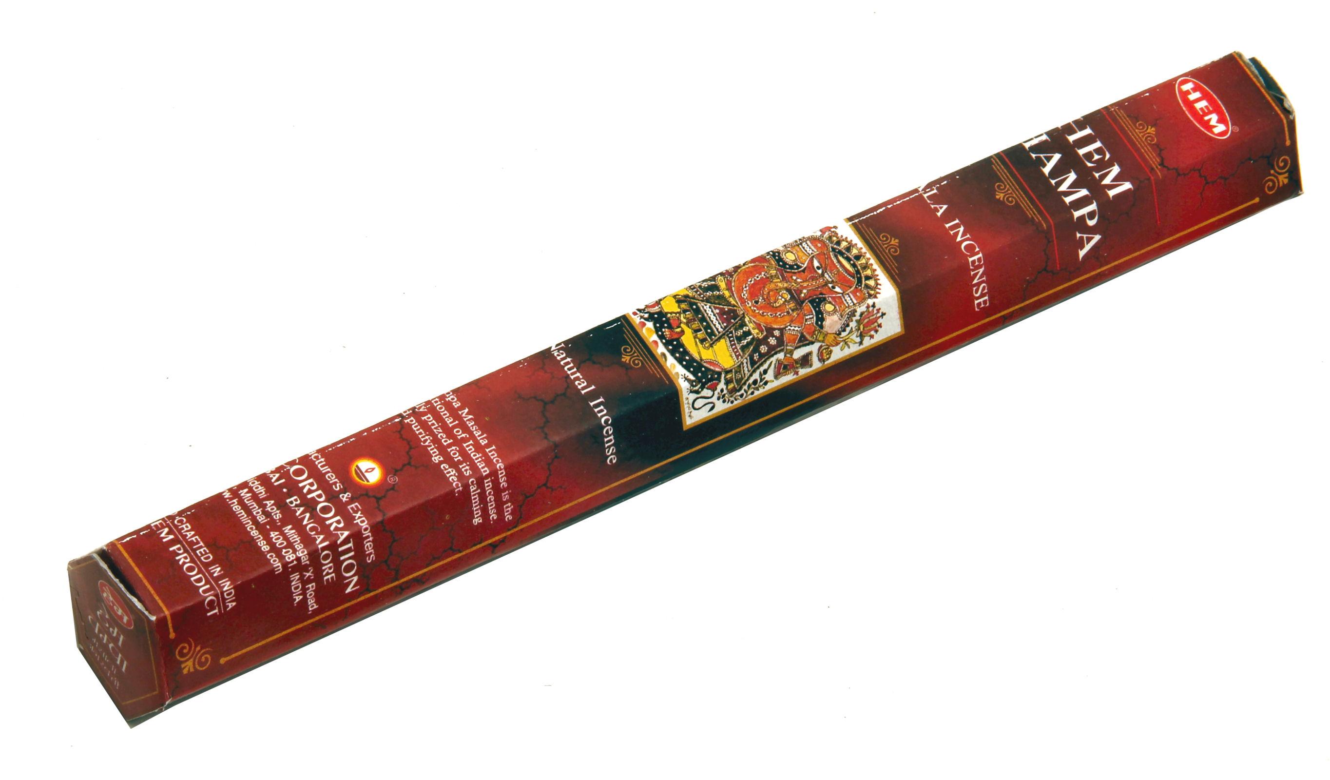 HEM Räucherstäbchen HEM Champa 15g Hexa Packung  Ca. 15 Incence Sticks