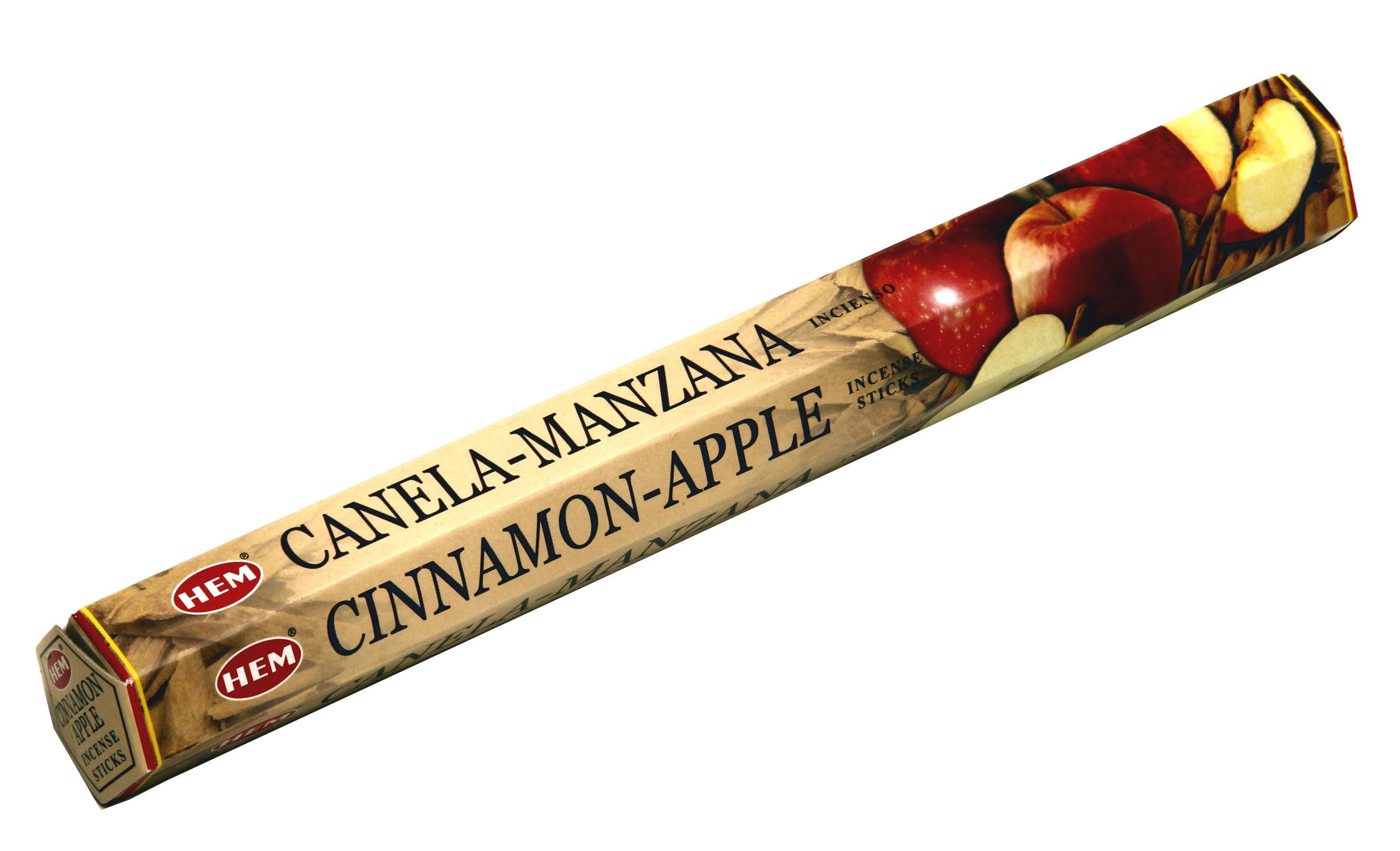 HEM Räucherstäbchen Cinnamon Apple 20g Hexa Packung  Ca. 20 Incence Sticks