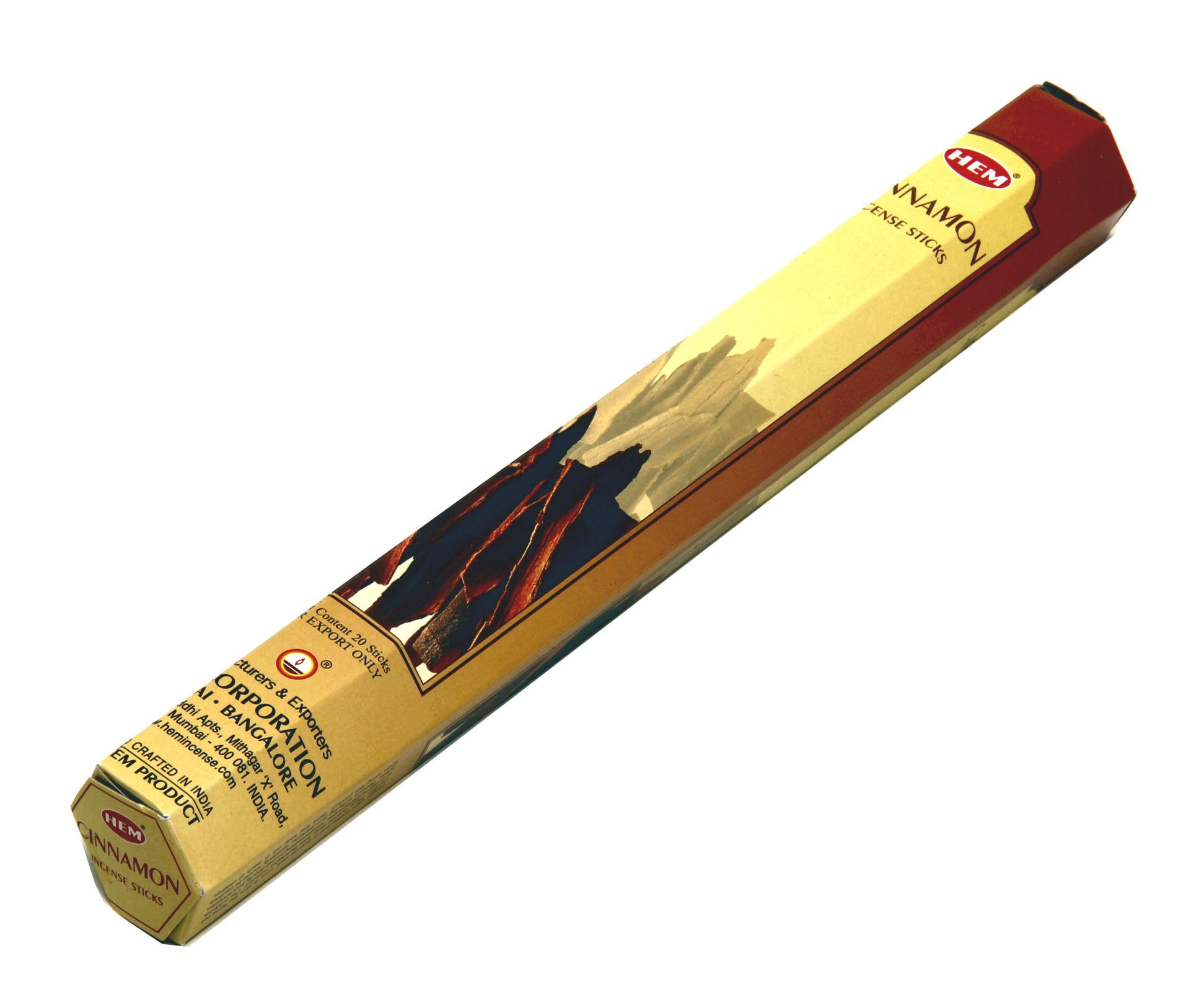 HEM Räucherstäbchen Cinnamon 20g Hexa Packung  Ca. 20 Incence Sticks