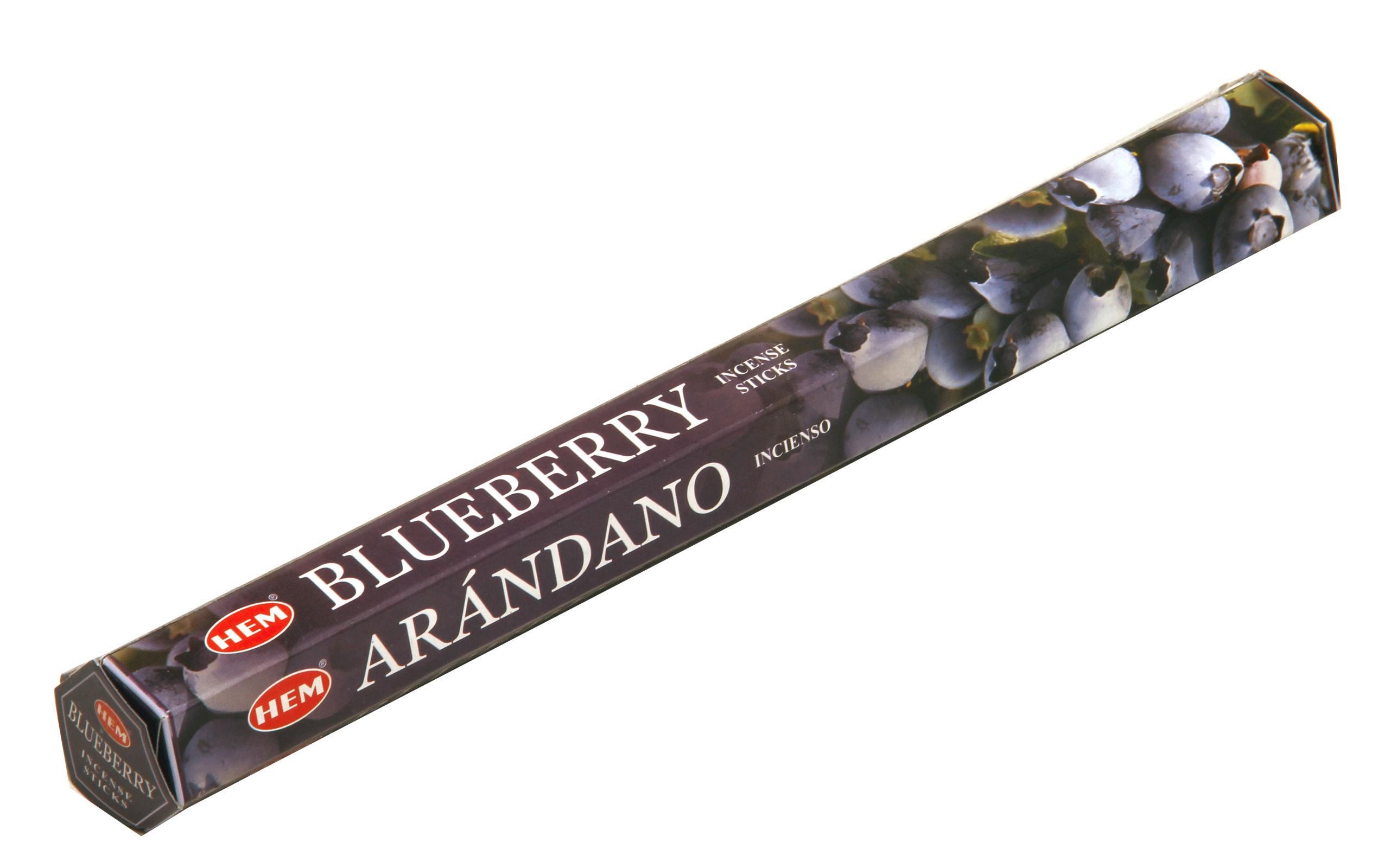 HEM Räucherstäbchen Blueberry 20g Hexa Packung  Ca. 20 Incence Sticks