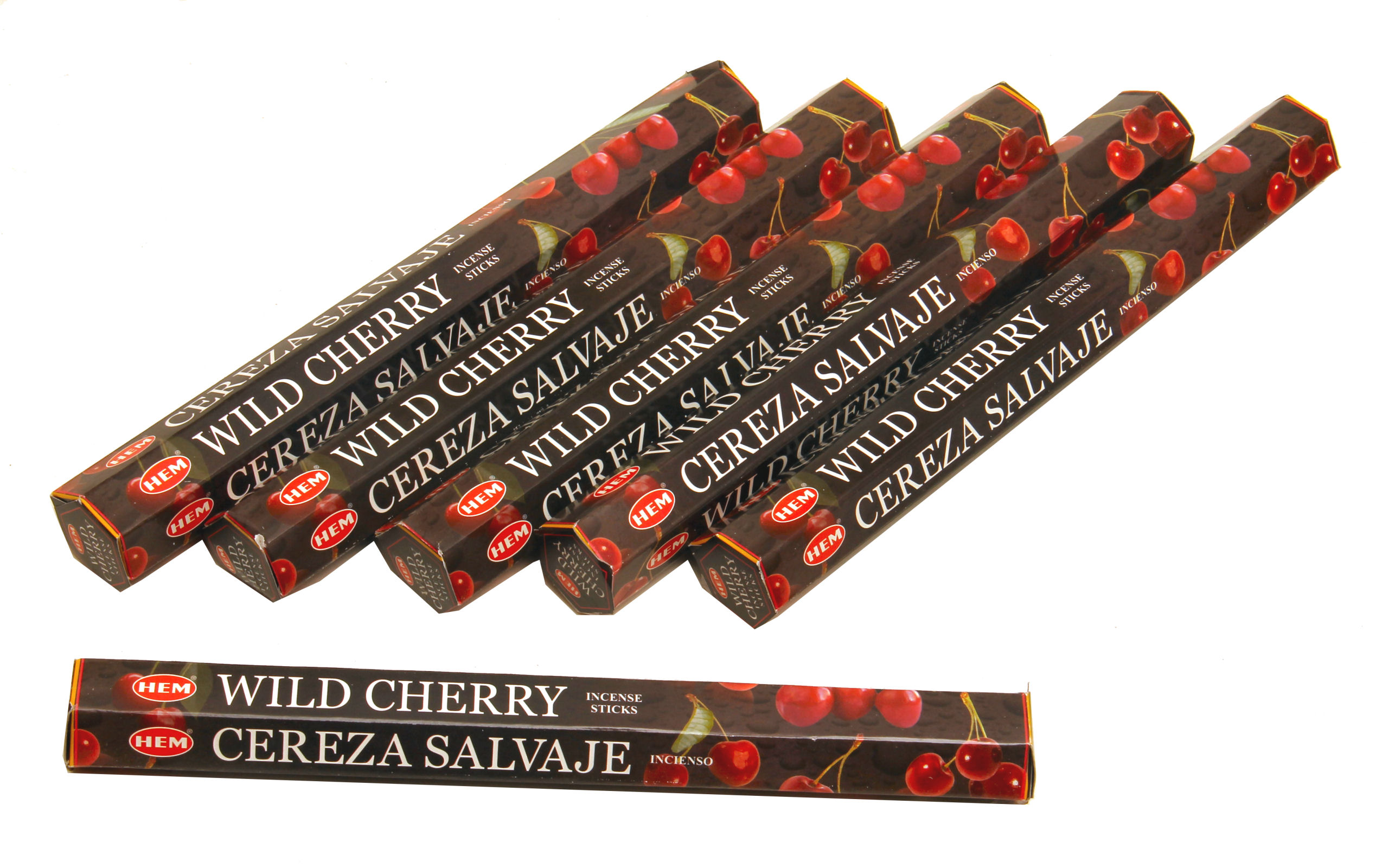 HEM Räucherstäbchen Sparset. 6 Packungen ca. 120 Sticks Wild Cherry
