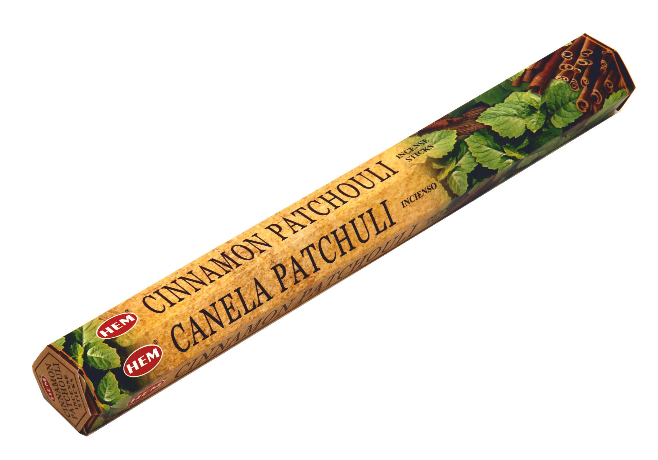HEM Räucherstäbchen Sparset. 6 Packungen ca. 120 Sticks Cinnamon Patchouli