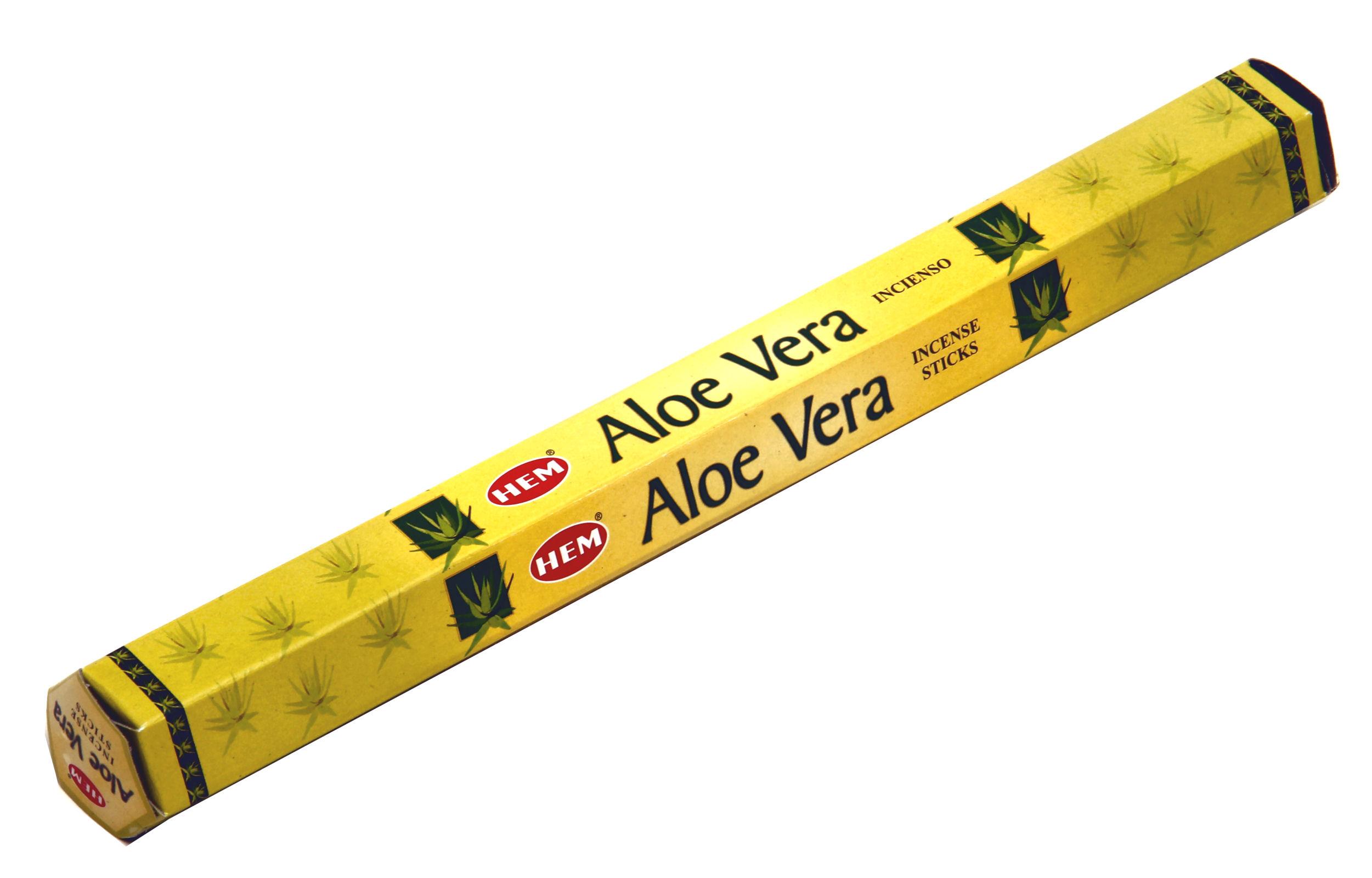 HEM Räucherstäbchen Sparset. 6 Packungen ca. 120 Sticks Aloe Vera
