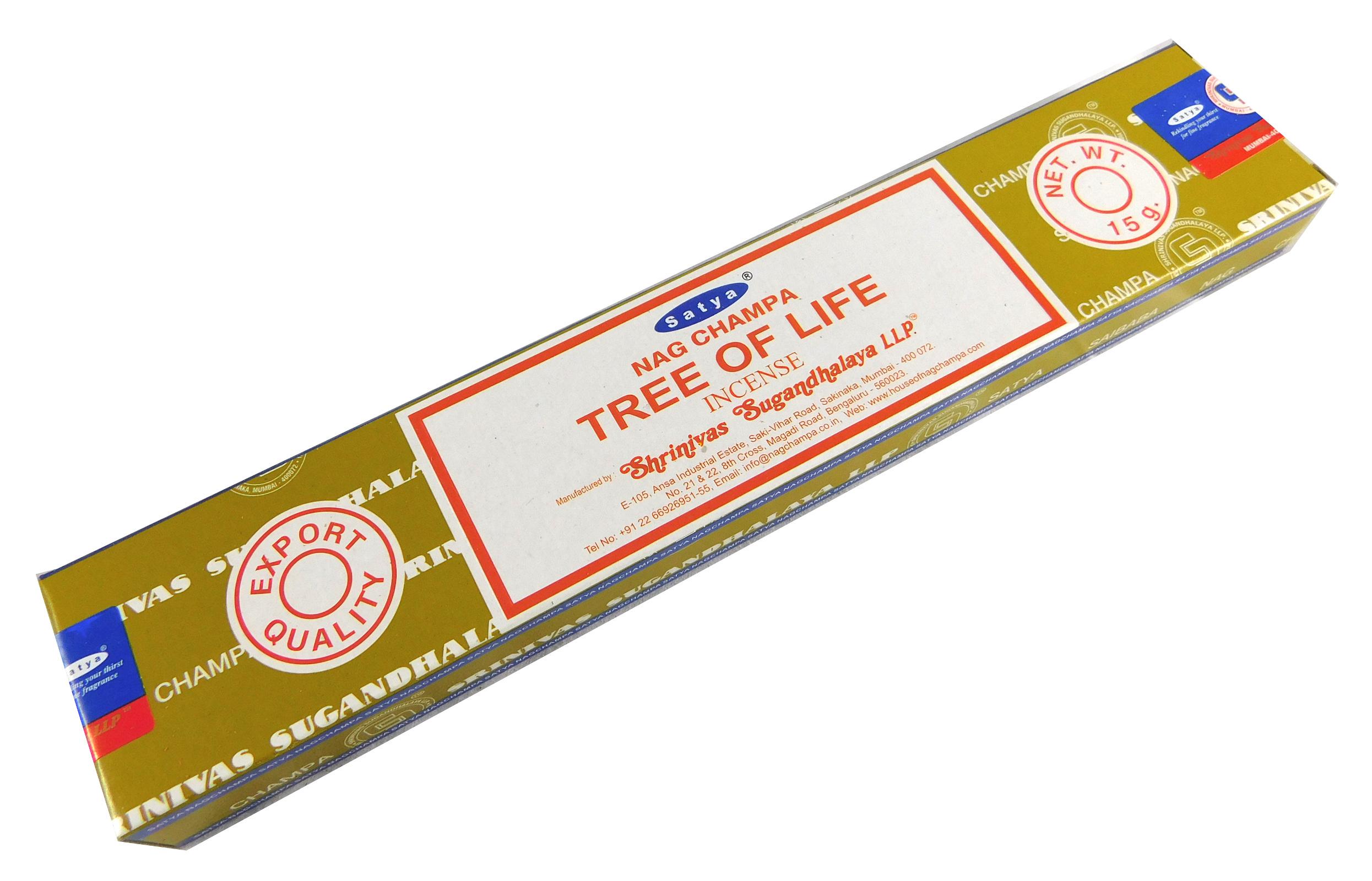 Räucherstäbchen Tree of Life von Satya 15g Packung. Ca. 15 Incence Sticks