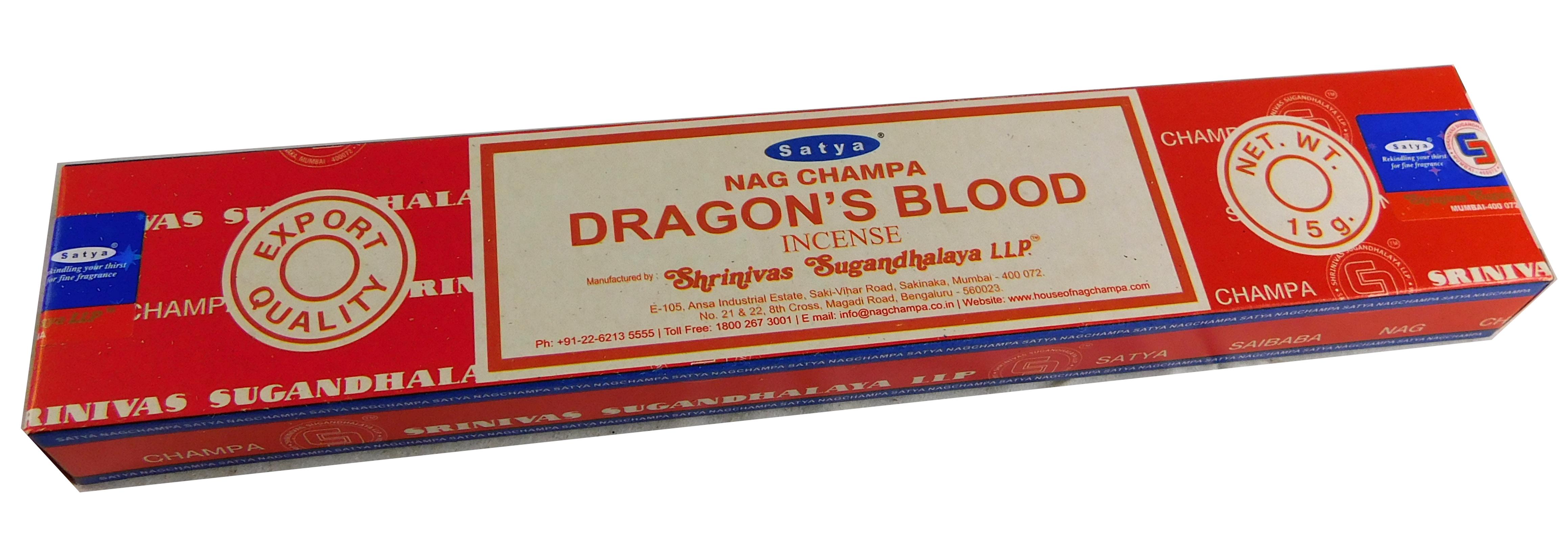 Räucherstäbchen Dragon´s Blood von Satya 15g Packung. Ca. 15 Incence Sticks
