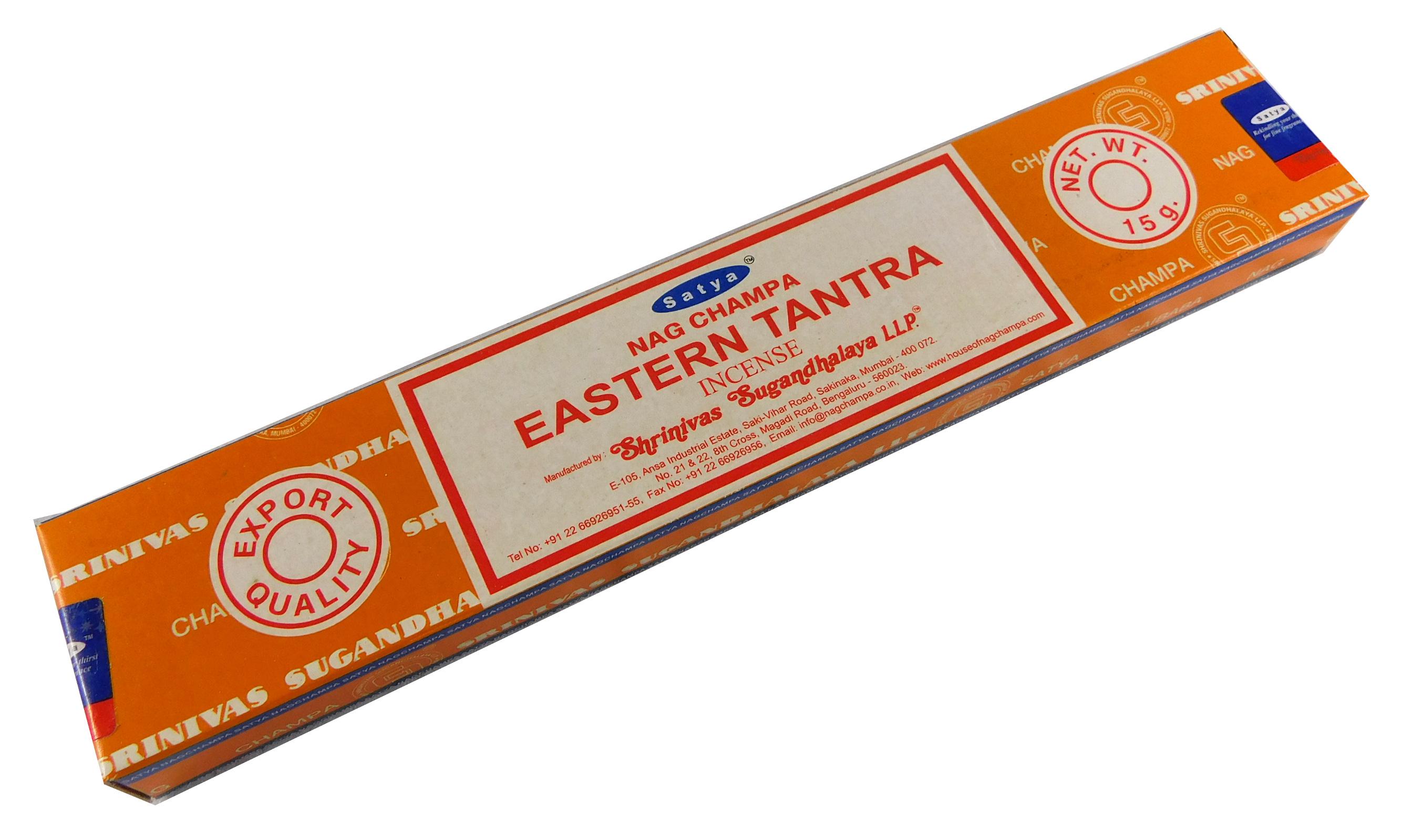 Räucherstäbchen Eastern Tantra von Satya 15g Packung. Ca. 15 Incence Sticks