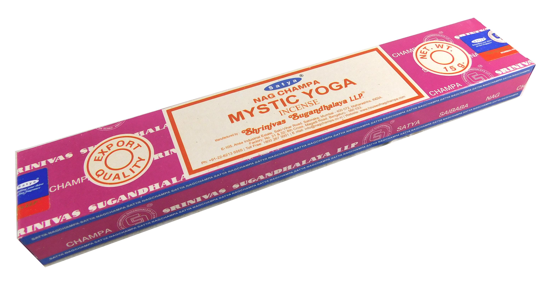 Räucherstäbchen Mystic Yoga von Satya 15g Packung. Ca. 15 Incence Sticks