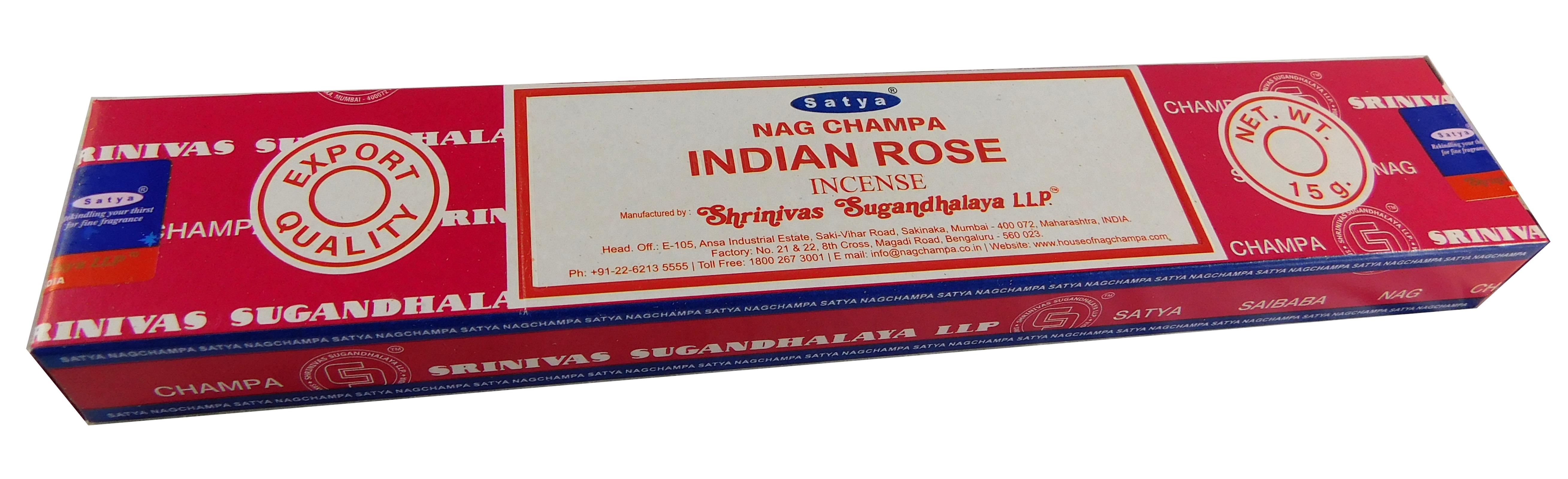 Räucherstäbchen Indian Rose von Satya 15g Packung. Ca. 15 Incence Sticks