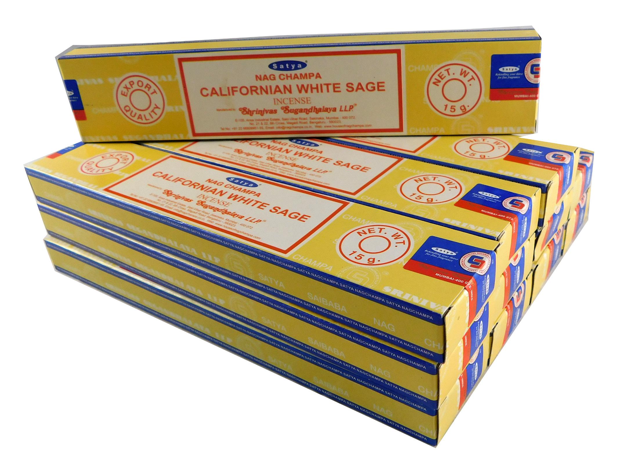 Satya Räucherstäbchen California White Sage 12 Packs a 15g