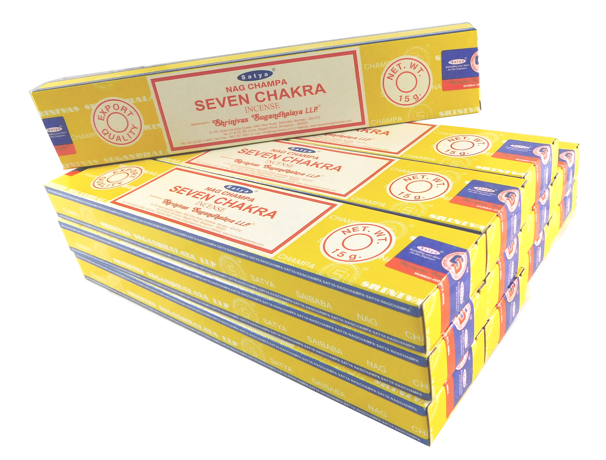 Satya Räucherstäbchen Seven Chakra 12 Packs a 15g