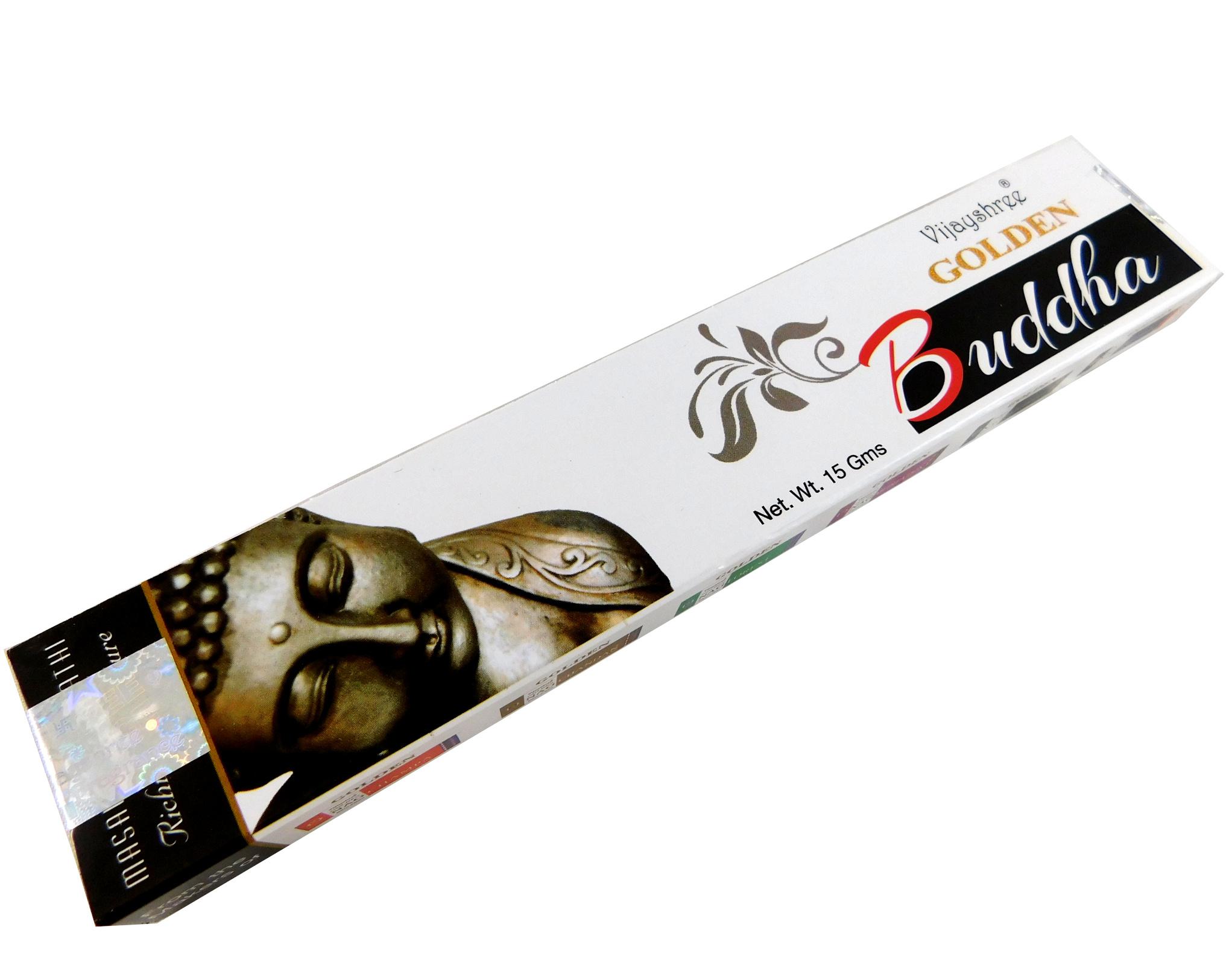 Räucherstäbchen Golden Buddha von Vijayshree 15g Packung. Ca. 15 Incence Sticks