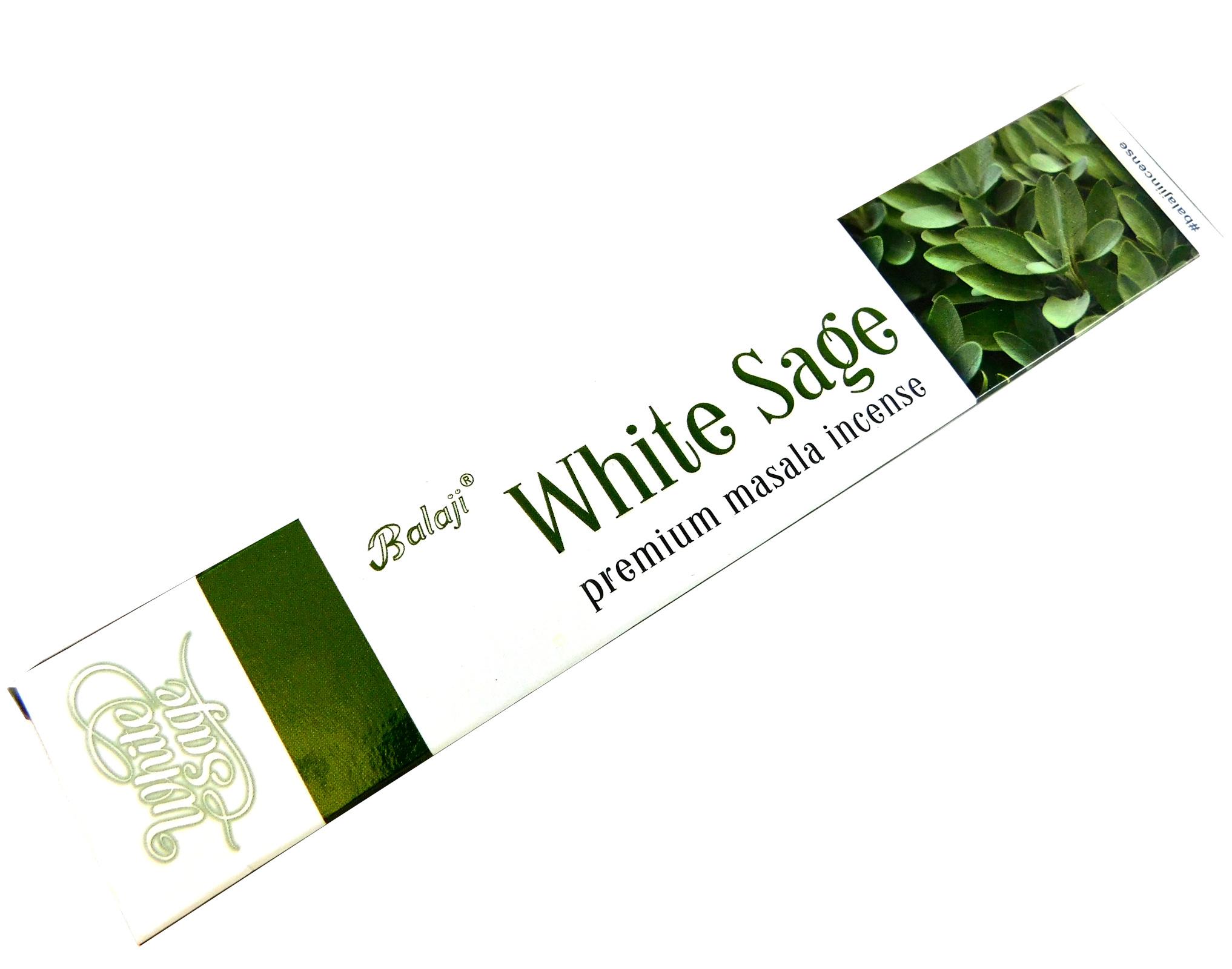 Räucherstäbchen Balaji White Sage 15g Packung. Ca. 15 Incence Sticks