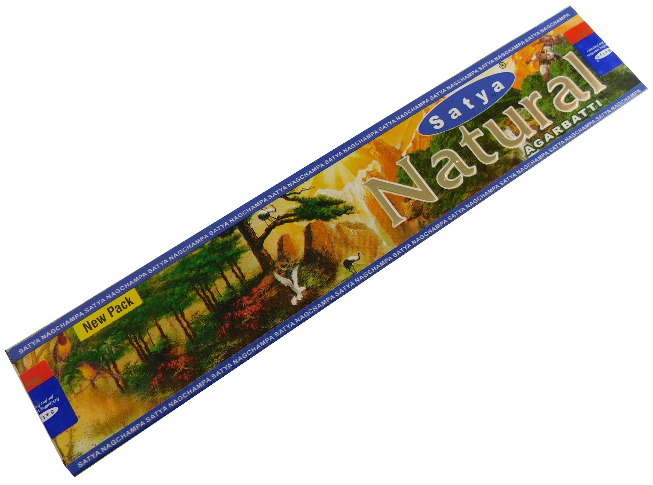 Räucherstäbchen Natural von Satya 15g Packung. Ca. 15 Incence Sticks