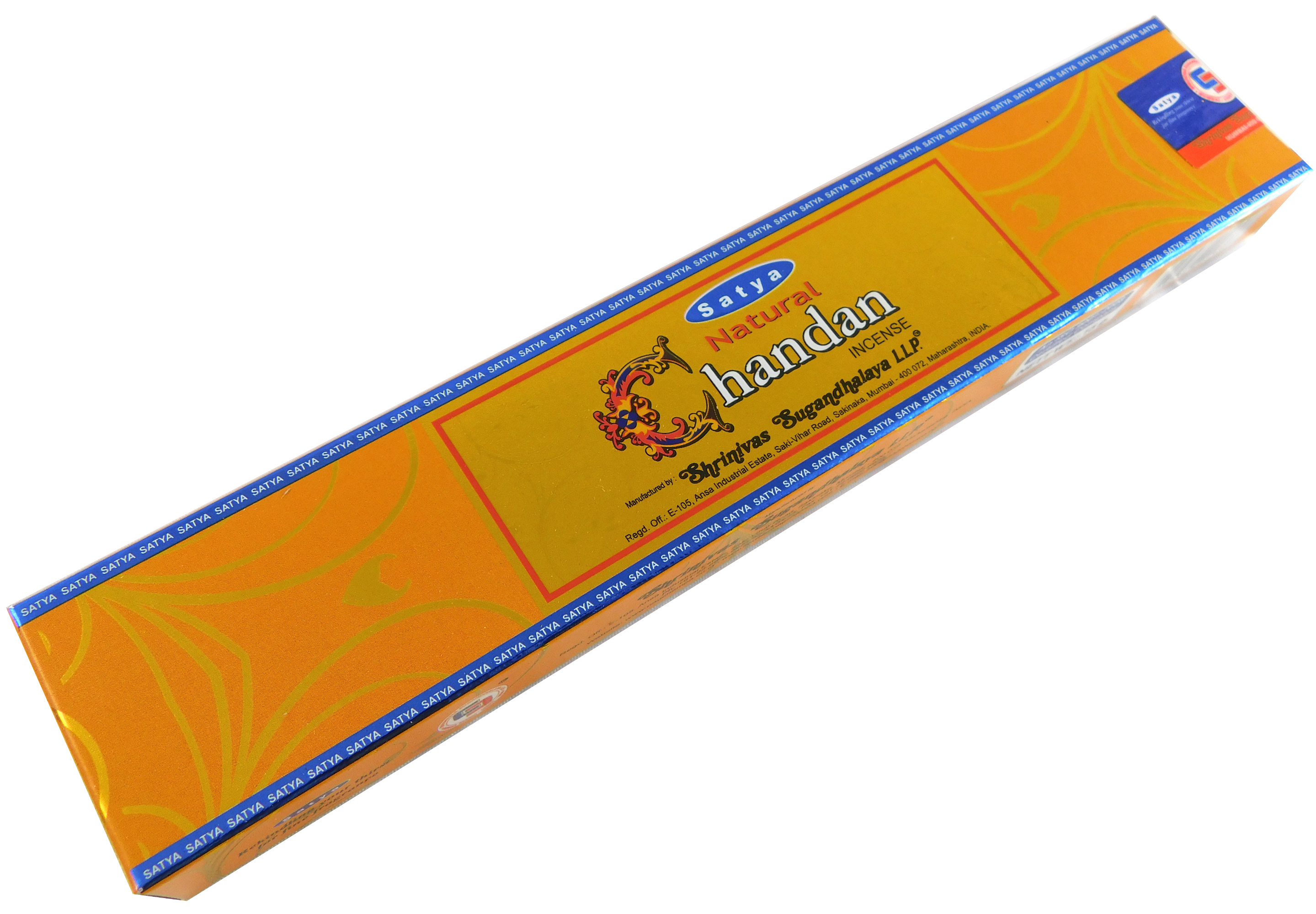 Räucherstäbchen Natural Chandan von Satya 15g Packung. Ca. 15 Incence Sticks