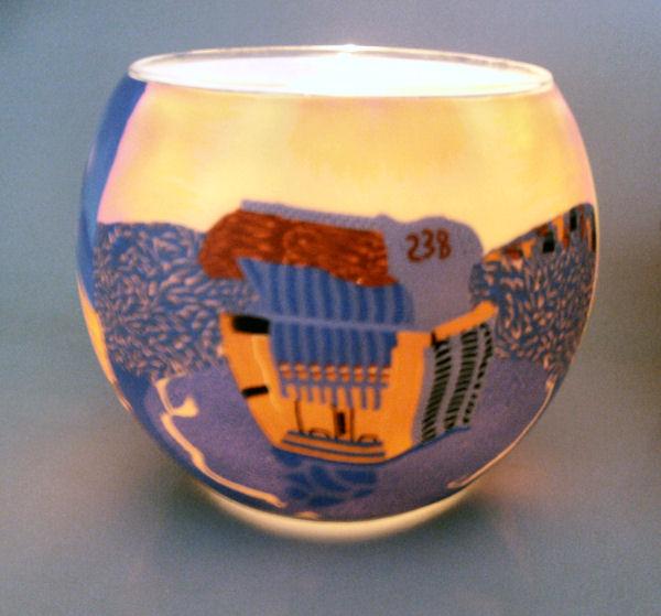 Teelichtglas Nordic Sunset, Höhe 9cm