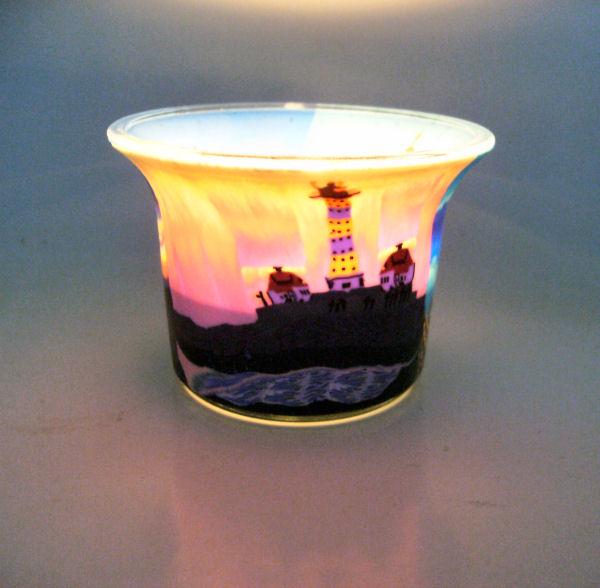 Teelichtglas Lighthouse1, Höhe 4,8 cm
