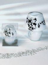 Glaslampe Black & White