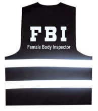 Partyweste FBI Female Body Inspector - L