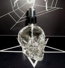 Parfumflakon Skull Totenkopf mit Zerstäuber 120ml leer Gothic