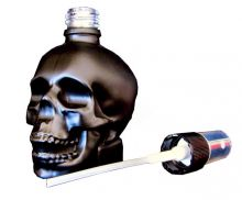 Parfumflakon Skull Totenkopf mit Zerstäuber schwarz 30ml leer Go