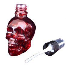 Parfumflakon Skull Totenkopf mit Zerstäuber rot 60ml leer Gothic