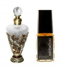 Eau De ParfumPatchouli Natur 25ml und Parfumflakon leer