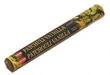 HEM Räucherstäbchen Patchouli Vanilla 20g Hexa Packung  Ca. 20 Incence Sticks