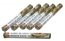 HEM Räucherstäbchen Sparset. 6 Packungen ca. 120 Sticks Weißer Salbei