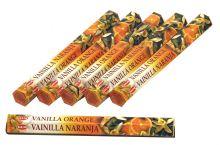 HEM Räucherstäbchen Sparset. 6 Packungen ca. 120 Sticks Vanilla Orange