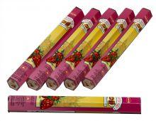 HEM Räucherstäbchen Sparset. 6 Packungen ca. 120 Sticks Strawberry