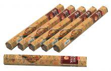 HEM Räucherstäbchen Sparset. 6 Packungen ca. 120 Sticks Rose Musk