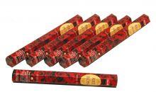 HEM Räucherstäbchen Sparset. 6 Packungen ca. 120 Sticks Red Rose
