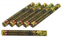 HEM Räucherstäbchen Sparset. 6 Packungen ca. 120 Sticks Patchouli Vanilla
