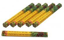 HEM Räucherstäbchen Sparset. 6 Packungen ca. 120 Sticks Patchouli Musk