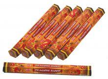 HEM Räucherstäbchen Sparset. 6 Packungen ca. 120 Sticks Dragons Blood