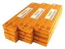 Goloka Nag Champa Masala Räucherstäbchen gelb Räucherwerk 12 x 16g Duftstäbchen