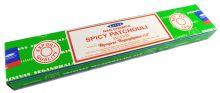 Räucherstäbchen Spicy Patchouli von Satya 15g Packung. Ca. 15 Incence Sticks