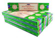 Satya Räucherstäbchen Spicy Patchouli 12 Packs a 15g