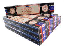 Satya Räucherstäbchen Black Opium 12 Packs a 15g